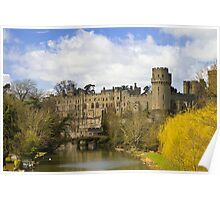 Warwick Castle from the river Poster