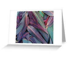 Purple Gum Leaves Greeting Card