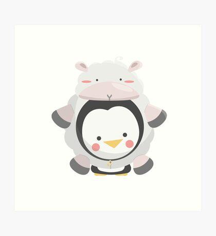 Penguin/Sheep Art Print