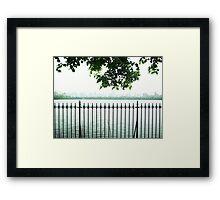 Trees Over CP Reservoir Fence Framed Print