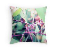 Purple Eucalypt Sapling Throw Pillow