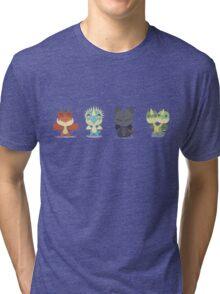 "Tiny Dragons ""How To Train Your Dragon"" Tri-blend T-Shirt"