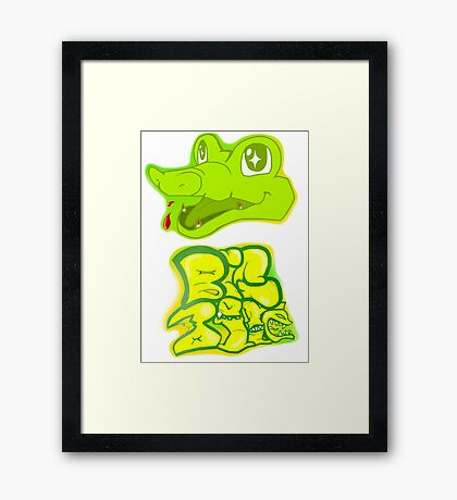 Little Gator, Big Bite Framed Print