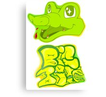 Little Gator, Big Bite Canvas Print