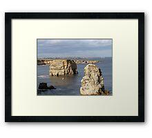 marsden rock south shields Framed Print