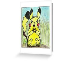 What is a pikachu without his light ball? Greeting Card