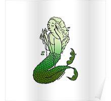 Green Mermaid Poster
