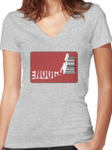 Enough Women's Fitted V-Neck T-Shirt