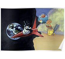 Roald Dahl and the Rocketship Rabbit Poster