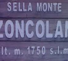 Monte Zoncolan Cycling Road Sign by movieshirtguy
