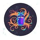 Swirly Twirly Tardis by Kat Smith