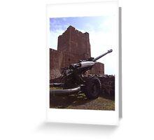 big guns arrive in town ... Greeting Card