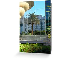 Owl in the palm at MGM Grand Greeting Card