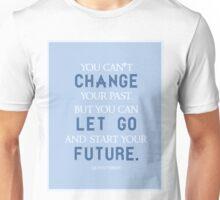 """You Can't Change Your Past"" Quinn Fabray Quote Unisex T-Shirt"