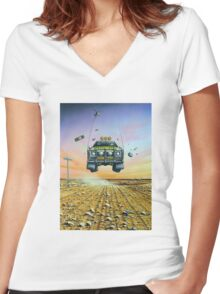Are We There Yet - Feral Ute Women's Fitted V-Neck T-Shirt