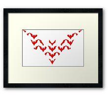 Batman Beyond Mosaic Framed Print