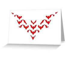 Batman Beyond Mosaic Greeting Card