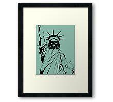 Gas Liberty Framed Print