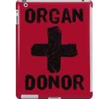 Organ Donor Black iPad Case/Skin