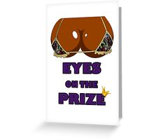 Eyes on the Prize #005 - Graffiti Gold (Ebony Skin) Greeting Card
