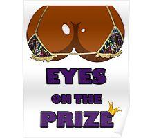 Eyes on the Prize #005 - Graffiti Gold (Ebony Skin) Poster