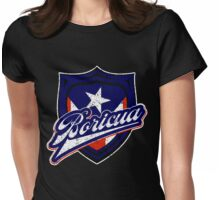 Boricua Badge Womens Fitted T-Shirt