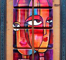 Seeing Eye to Eye, Polyptych (8) by Makeba Kedem-DuBose