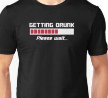 Getting Drunk Please Wait Loading Bar Unisex T-Shirt