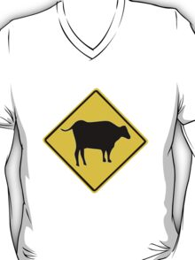 BULL CROSSING ROAD  SIGN  T-Shirt