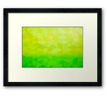 Abstract Art Citrus Fractal Framed Print