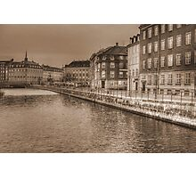 Sepia Town! Photographic Print