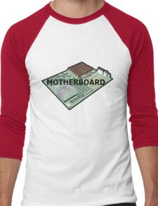 MOTHERBOARD COMPUTER Men's Baseball ¾ T-Shirt