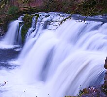 Waterfall, Ystrad Fellte by RedHillDigital