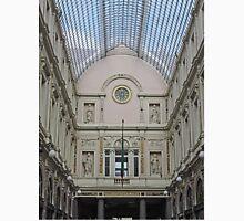 Art over Colonnade, Galeries St Hubert, Brussels, Belgium Unisex T-Shirt