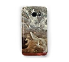 Ginger Cat Happy Holidays Samsung Galaxy Case/Skin