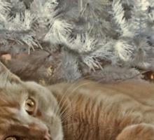 Ginger Cat Happy Holidays Sticker