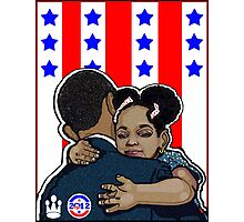 DEMOCRATIC CAMPAIGN 2012: OBAMA'S EMBRACE Photographic Print