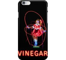 Neon Sign, Skipping Girl Vinegar, Melbourne, Australia  iPhone Case/Skin