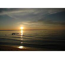 Lake Michigan sunset Photographic Print