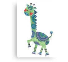 The Green Giraffe Canvas Print