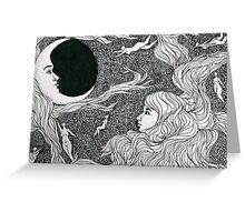 Moon Women Greeting Card