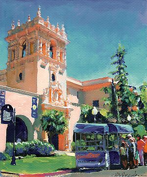 Ice Cream Cart in Balboa Park San Diego by Riccoboni by RDRiccoboni