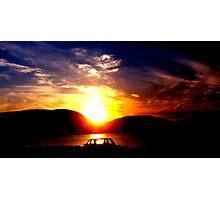 Sunset At Riverfront Photographic Print
