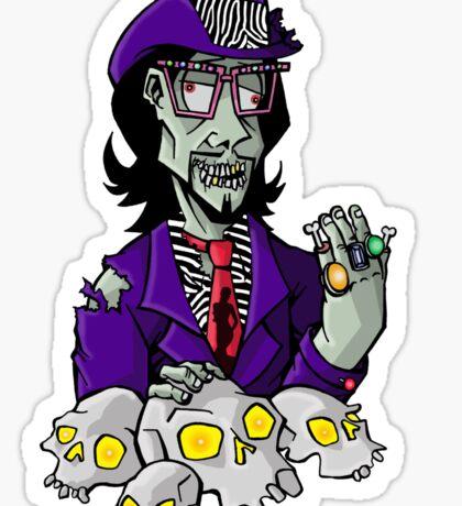 Putrid Zombie Pimp Sticker