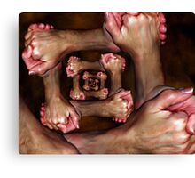 holding hands 2 Canvas Print