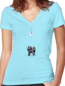 Riot At The Disco Women's Fitted V-Neck T-Shirt