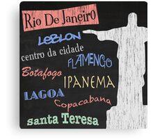 Rio de Janeiro Tourism Poster Canvas Print