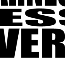 More Barnesy Less Everything Else - BLACK Sticker