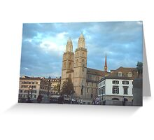 Zurich City Square Greeting Card