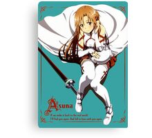 Asuna's Love for Kirito (Any Color) Canvas Print